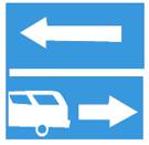 Rẽ ra đường có làn đường dành cho ôtô khách