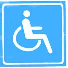 Biển báo phần đường cho người tàn tật