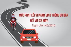 Mức phạt các lỗi vi phạm giao thông phổ biến nhất với xe máy